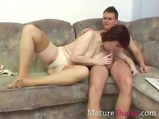 aged obese wife engulfing a recent schlong