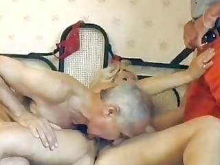 older german blond acquires double fucked