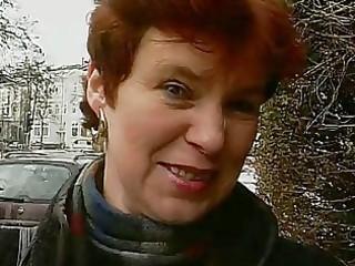 older german lady shows off