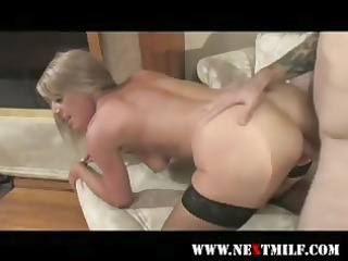 turned-on mother i in nylons