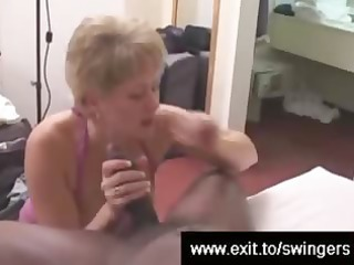 swinger mama tracey devours bbc during the time