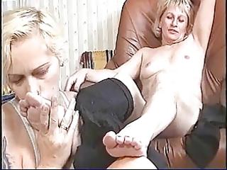 violett and martha in older foot fetish