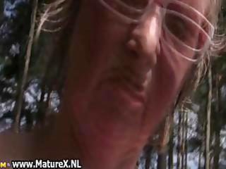 lustful aged lady can nudism and plays part9