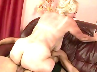 granny enjoying sex with juvenile dude