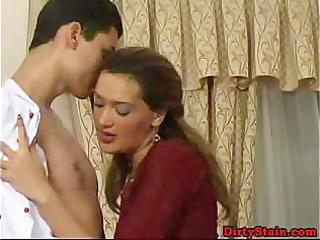 lonely mamma seduces her sons ally and copulates