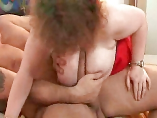 granny with big tits.belly &; glasses