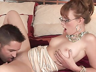 stylish older sweetheart nailed on the daybed