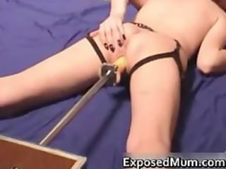 perverted mommy vagina fucked by a marital-device