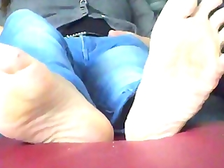 wifes perspired feet