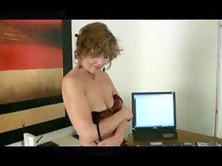 mature mother i in seamed nylons disrobes and