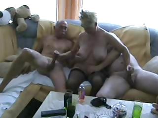 aged bisex threesome