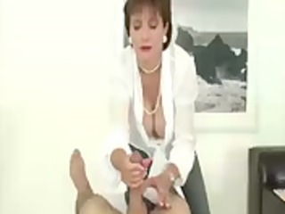 aged stocking femdom jerks dong