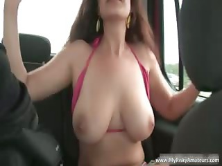 brunette hair d like to fuck showing her heavy