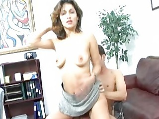 office hardcore and blowjob pleasure with milfs