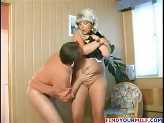 Blonde Russian MILF plumper Juliana trades head